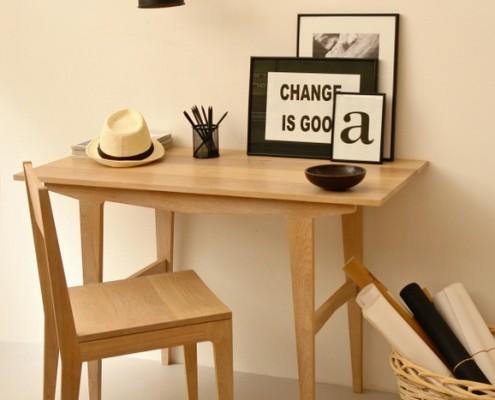 mueble mesa y silla colección snow menorca