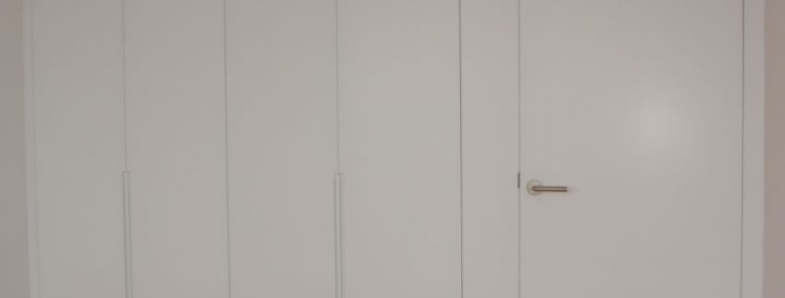 armario a medida blanco lacado