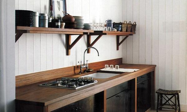 cocina madera menorca